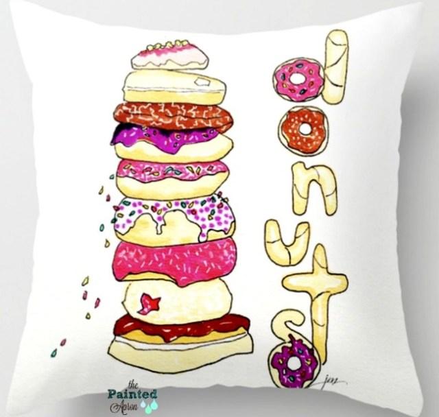 donut shop pillow