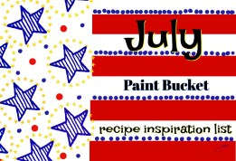 firecracker flag paint bucket