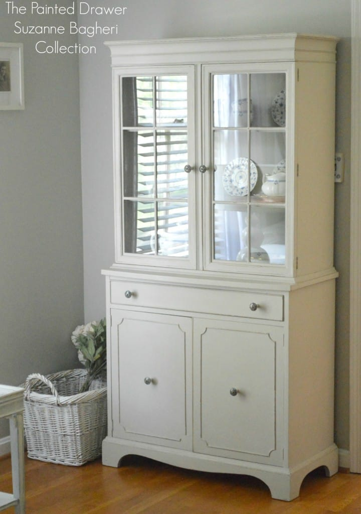 The Farmhouse Cabinet In Greige And Persimmon Before And