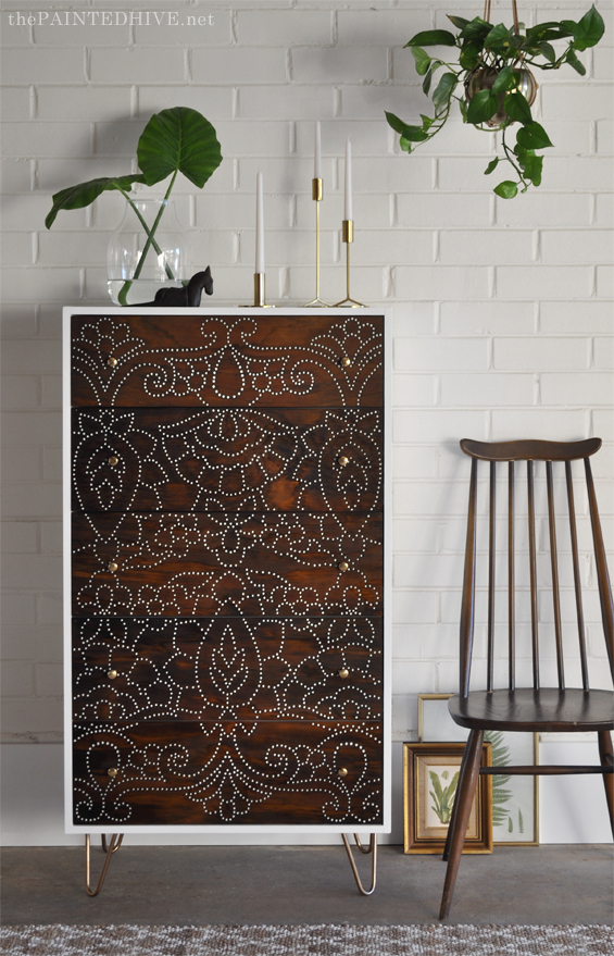 DIY Perforated Chest of Drawers