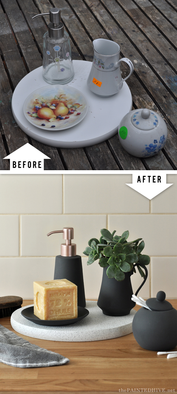 Thrift Store Spray Paint Upcycle