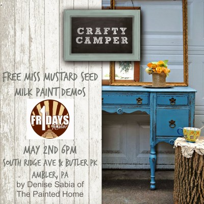 { Miss Mustard Seed milk Paint Demos }
