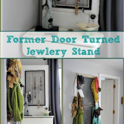 Vintage Door Turned Jewelry Stand