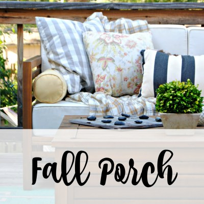 3 Ways to Cozy up your porch for Fall