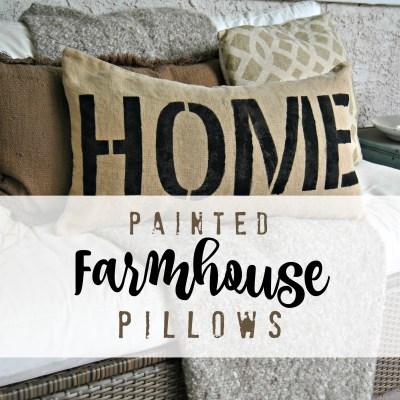 Creating a Farmhouse Style Pillow