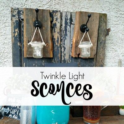 Twinkle Light Sconces & a Giveaway