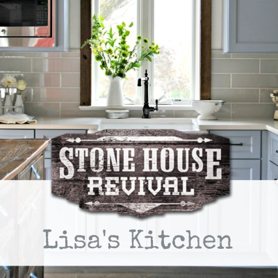 Stone House Revival Farmhouse kitchen