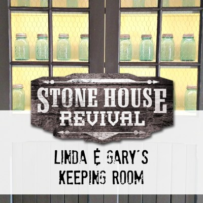 Stone House Revival Living Room Turned Dining Room