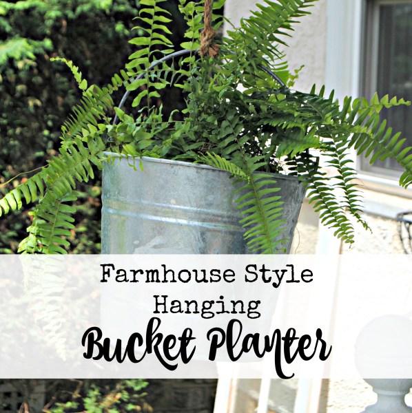 Hanging Metal Bucket Planter