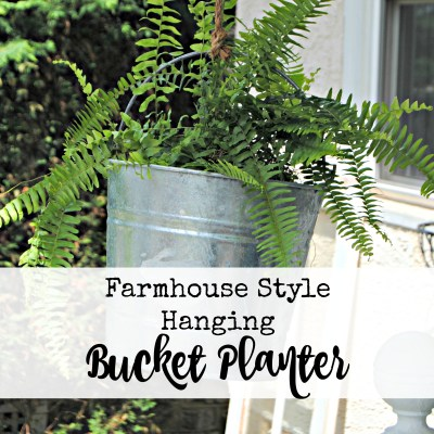 Hanging Metal Bucket Planter