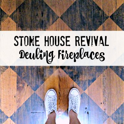 Stone House Revival Dueling Fireplaces