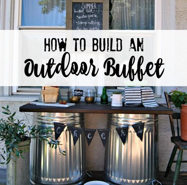 How to Build an Outdoor Buffet