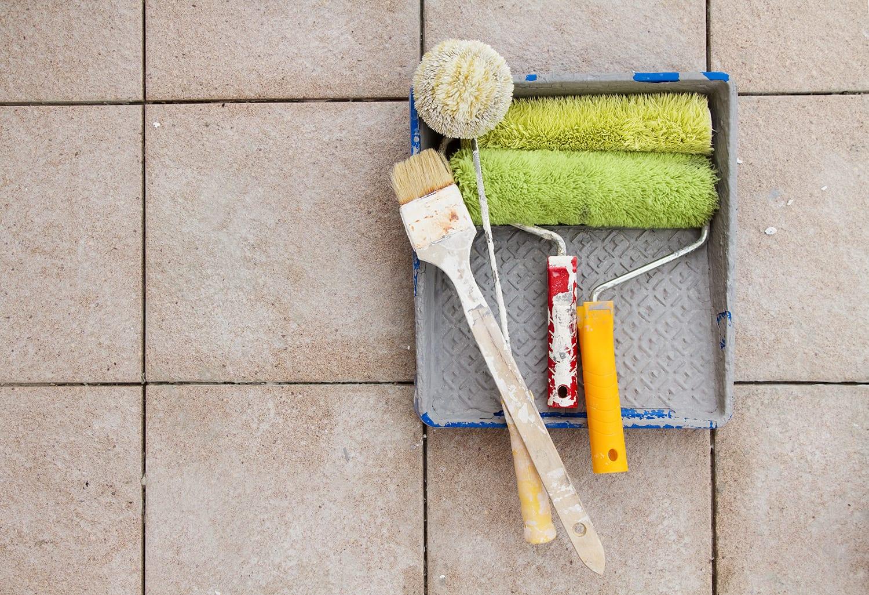 how to paint floor tiles tips