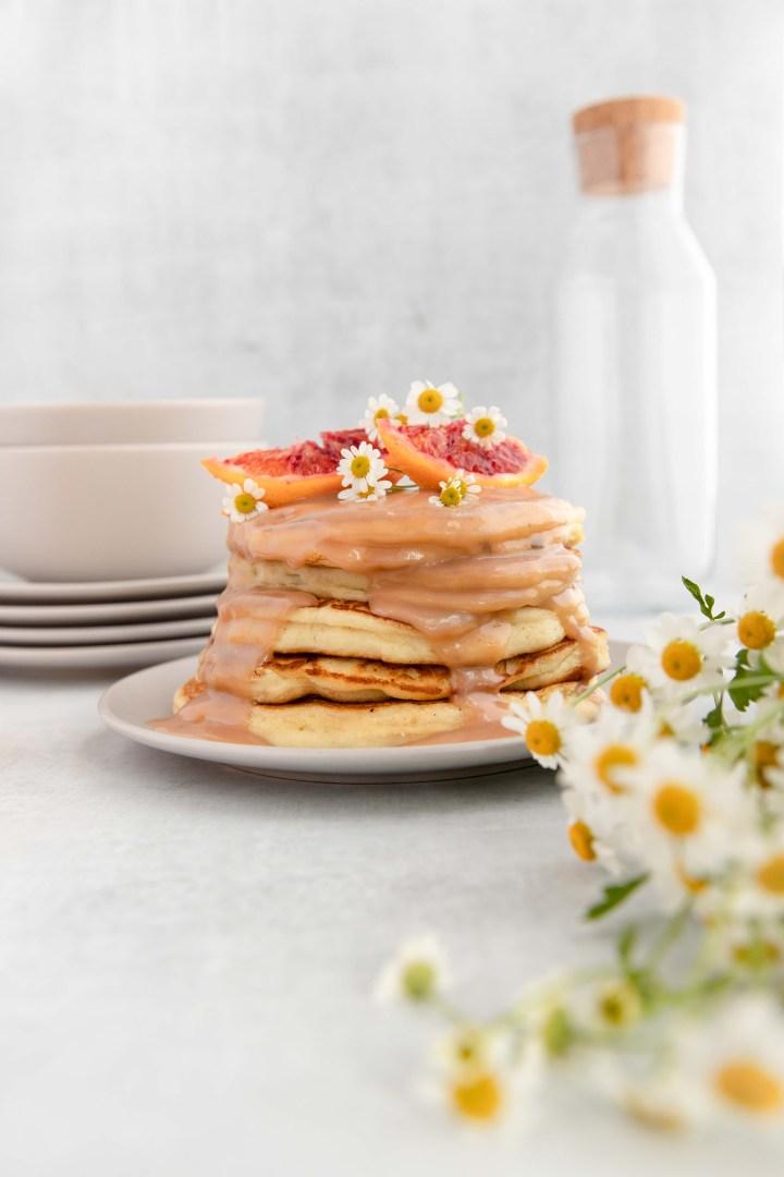 Ricotta Pancakes with Raspberry Orange Curd