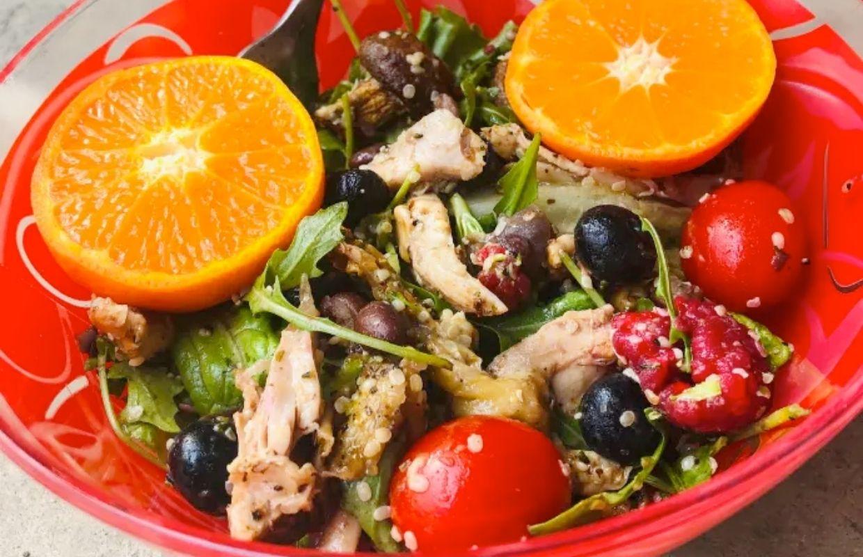 Spring Chicken Salad with Vegan substitutes