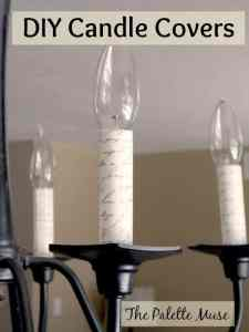 Make your own custom chandelier candle covers