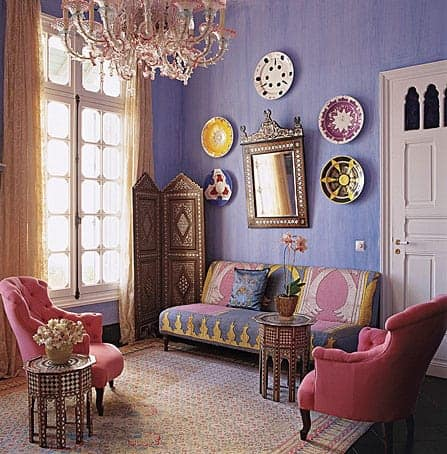 An Eclectically Styled Living Room