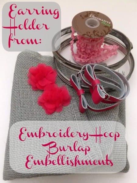 Ingredients for Easy Earring Holder