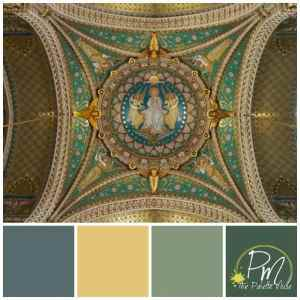 Color palette based on mosaic dome in Notre Dame