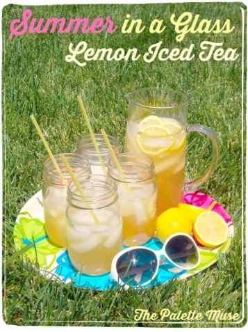 Summer in a Glass - Perfect Lemon Iced Green Tea Recipe