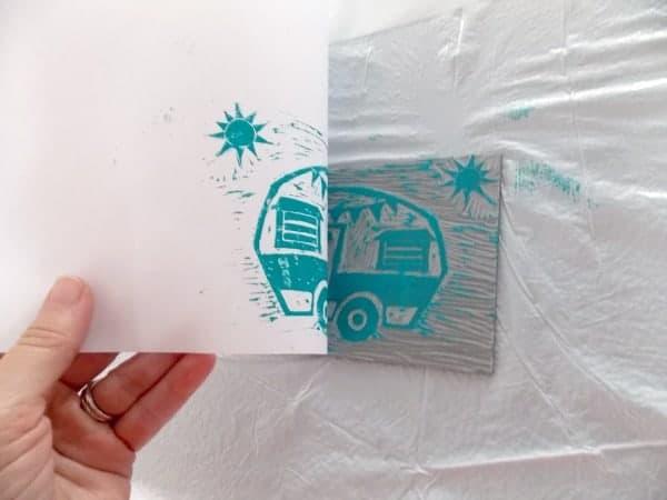 Peeling Paper from Block
