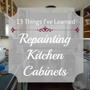 13 Things I've Learned in Repainting my Kitchen Cabinets | ThePaletteMuse.com