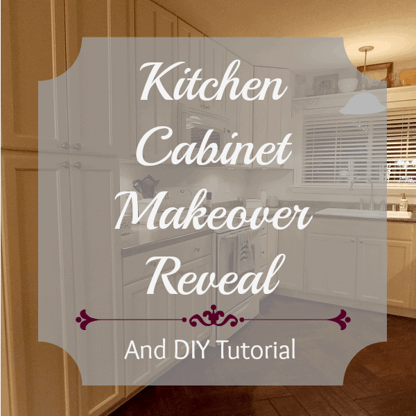 Kitchen Cabinet Makeover Reveal and DIY Tutorial
