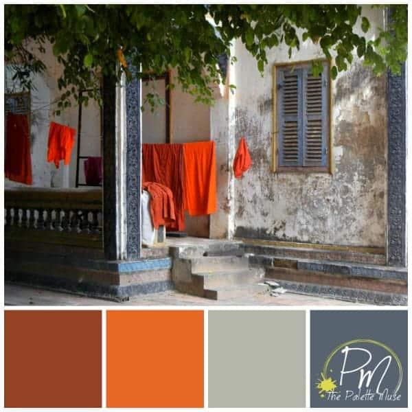 Saffron Robes Color Palette