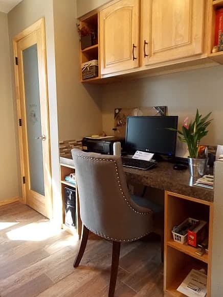 Functional and beautiful desk area.
