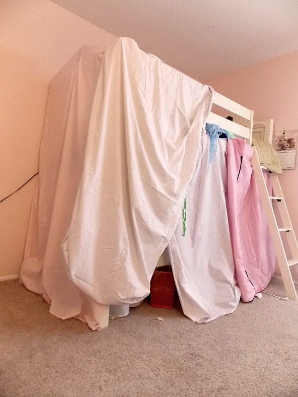 My 10-year-old's version of a bunk bed tent