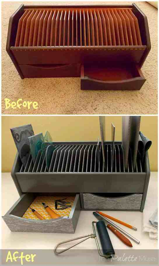 Craft Organizer Before and After