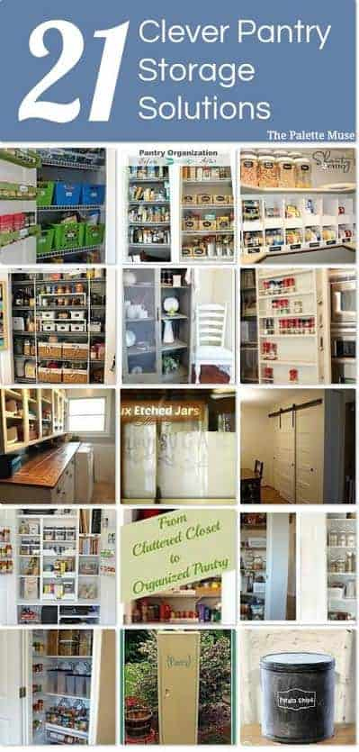 Pantry Solutions and Organizing tips from thepalettemuse.com and Hometalk
