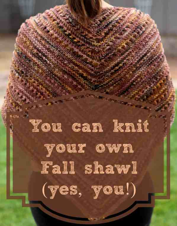 Even beginners can handle this gorgeous knitted shawl!
