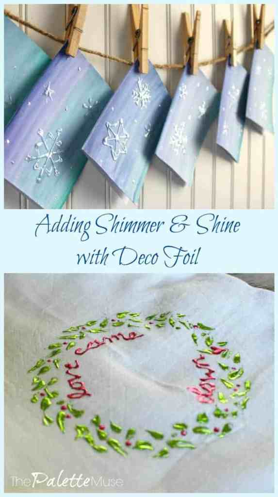 Adding-shimmer-shine-deco-foil
