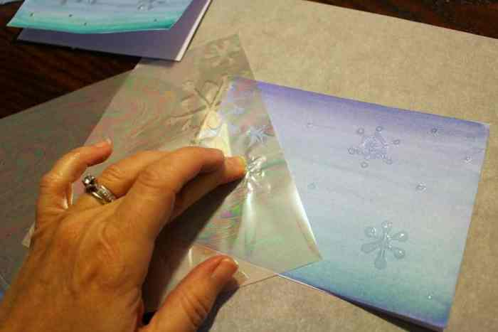 Snowflake-cards-adding-iridescent-foil