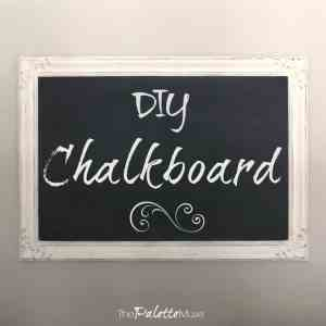 Make a Chalkboard out of an Old Framed Picture