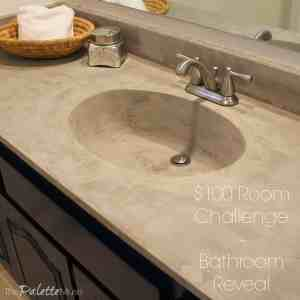 $100 Room Challenge Bathroom Reveal