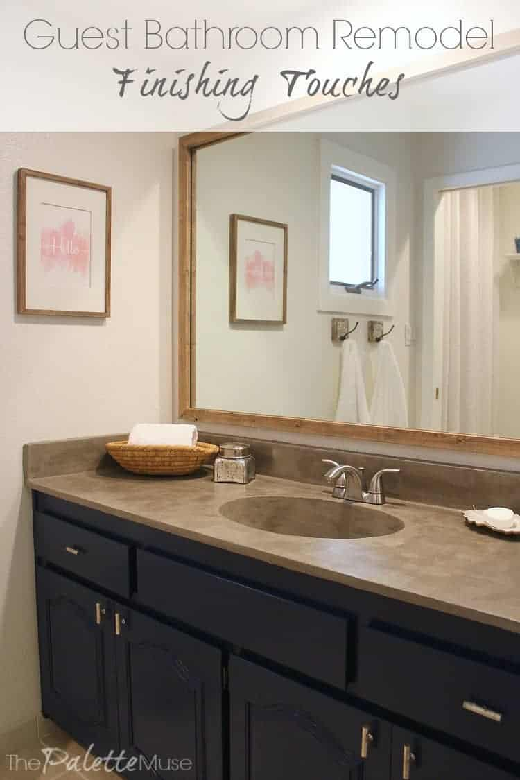 It's the details that make the difference in this guest bathroom remodel.