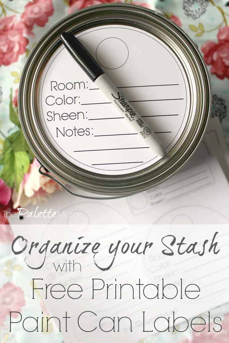 Organize your paint cans with these free printable labels!