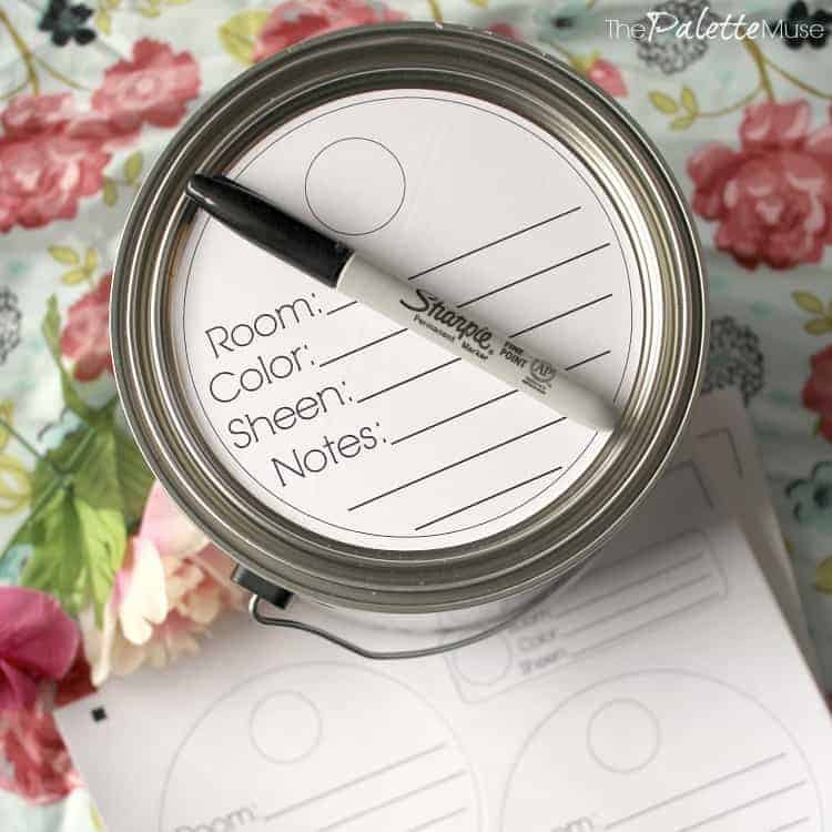 Keep all your paint cans organized with these easy labels. Free Printable!