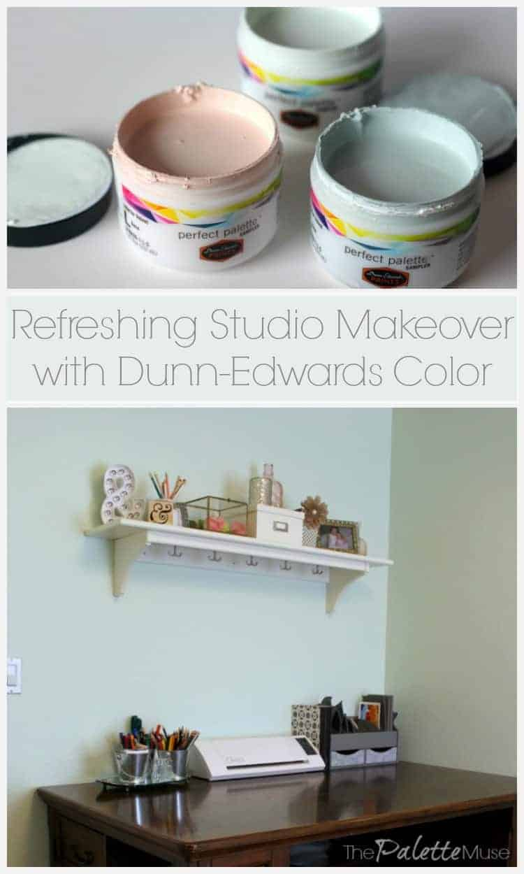 A boring, cluttered office gets a fresh makeover with Dunn-Edwards color