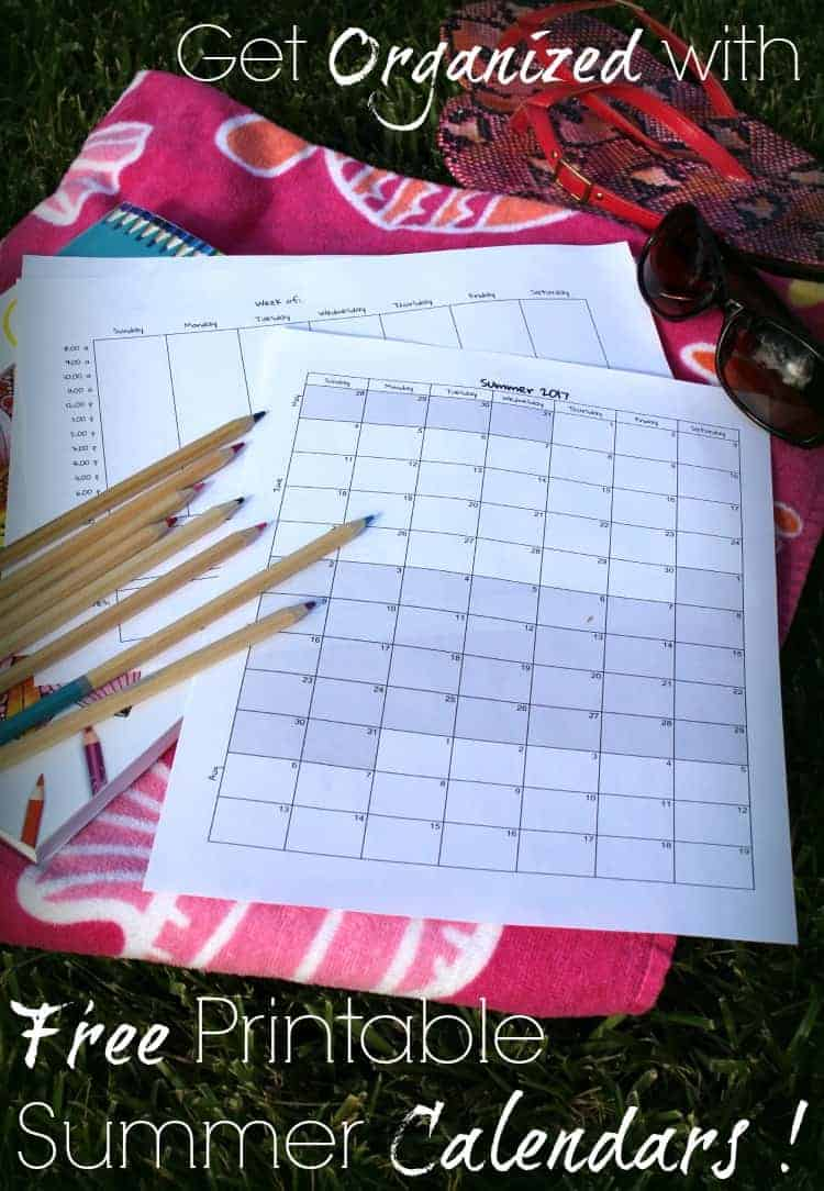 My summer schedule can get out of control quick! This is a great way to stay organized and plan in time for fun!