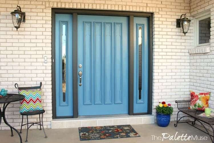 An easy front door makeover transformed this entryway!