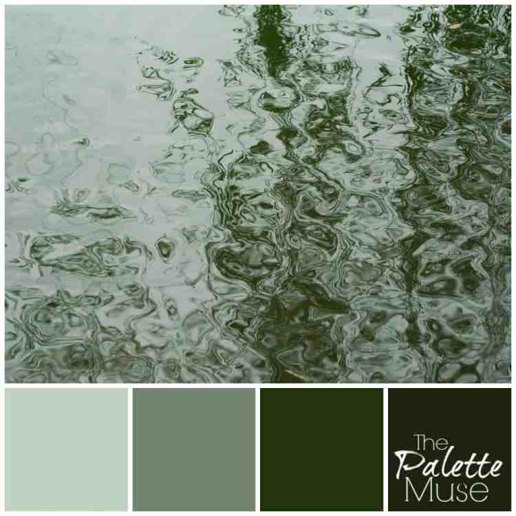 These watery greens and grays are a perfect blend of calm and energy, like a deep breath of fresh air.