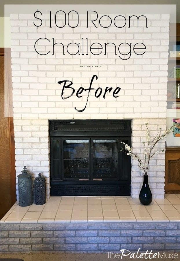 It's time for this wall to get a makeover with the $100 Room Challenge
