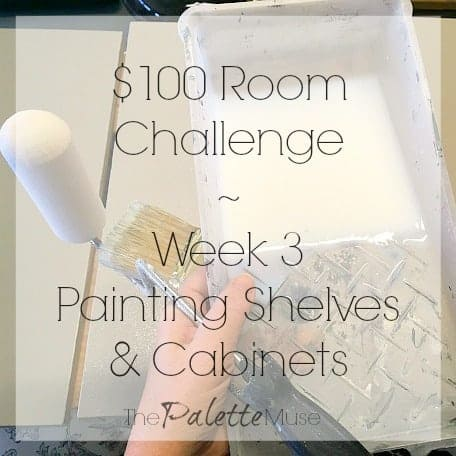 100 Room Challenge Painting Bookshelves and Cabinets