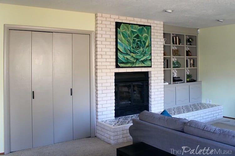 $100 Room Challenge Fireplace Makeover