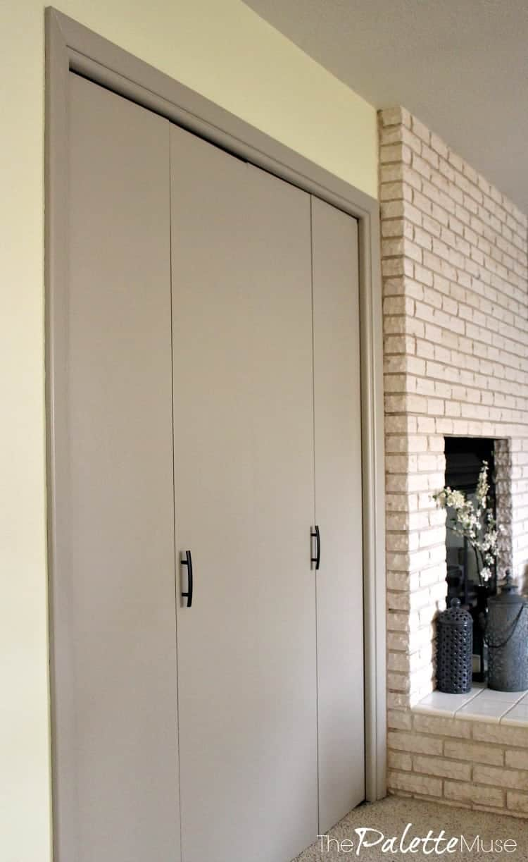 ... A Little Paint And Some Sleek New Hardware Have Totally Transformed  These Doors!