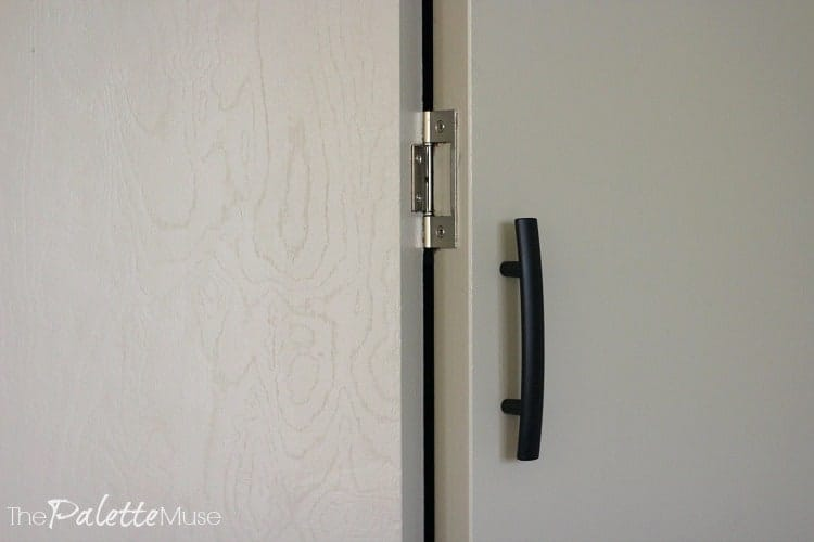 Closet Doors Get Mixed Hardware With Satin Nickel And Oil Rubbed Bronze