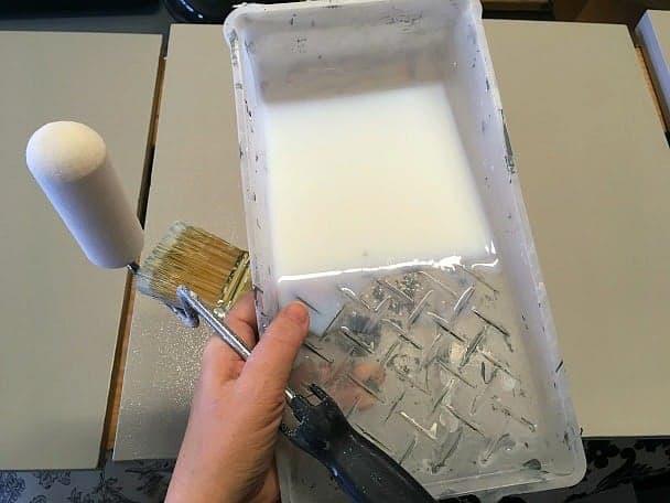 Polycrylic, roller, brush
